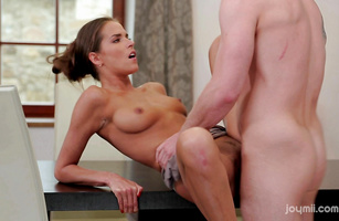 Stud is fucking his best hot-tempered maid Simona like never before and enjoying it a lot