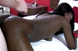 Delightful ebony maiden Faith Love likes to suck hunk