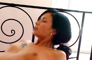 Passionate spooning and doggy style pounding for attractive girl Renata