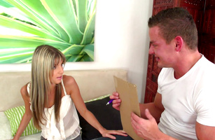 Exquisite young blonde floozy Gina H and her fellow have sensual sex