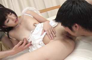 Alluring barely legal bimbo Maria Kotobuki sucks and fucks like a bitch