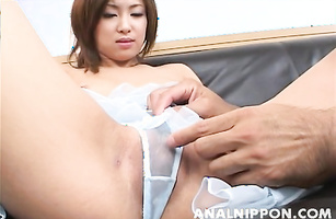 Ambitious maid Saku Momona needs anybody to fuck her hard