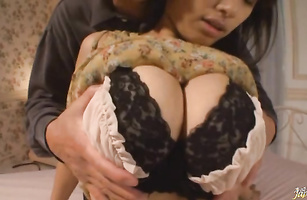 Enchanting Hana Haruna got slammed the way that babe always wanted