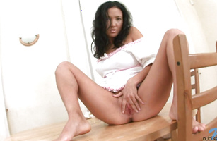 Worshipped Young Kesare Is Stimulating Her Cunt With A Sex Tool And Getting Ready To Have
