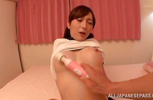Divine Ayu whimpers as her wet putz is drilled from behind