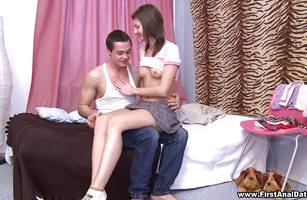 Lusty maid Faye gets rough pounding from dude