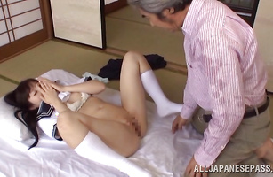 Elegant minx Arisa getting her virgin gash fucked 1st buddy