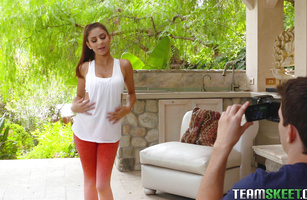 Succulent Nina North is getting banged in front of a hidden camera and moaning from pleasure