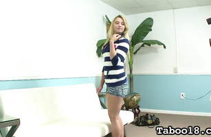 Lovely barely legal Lexi Kartel got her tight poon tang fingered while she was slowly riding guy's dick