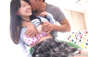 Sultry Kaho Mizuzaki receives a hard cuch pummeling
