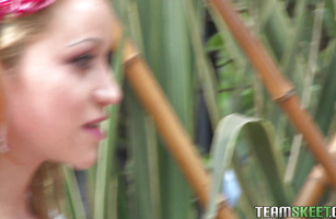 Breathtaking redhead barely legal Tatiana Garcia is getting fucked hard and screaming from pleasure while experiencing an orgasm
