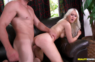 Lusty Christina Carris cums while riding her fuckmate's big meaty penis