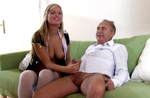 Luscious blonde young bimbo Agnes F wants it so bad
