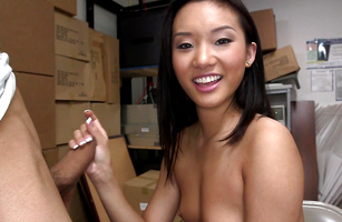 Playsome Alina Li sucks a fat shlong passionately