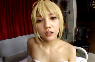 Aroused barely legal sweetie with great body is fucked before the camera