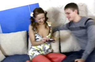 Wanton teen bombshell has a really good fuck