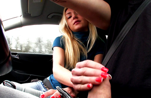 This adorable teen maid Victoria Puppy excellent sausage pleasing hand work action