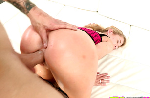 Blonde girl Mandy Armani is sexual and ready for some hot pounding