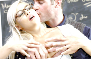 Extraordinary blonde princess Kylie Page with wet vagina enjoys riding a pecker