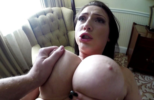 Worshipped barely legal diva Harmony Reigns with perfect body is extremely horny and hot